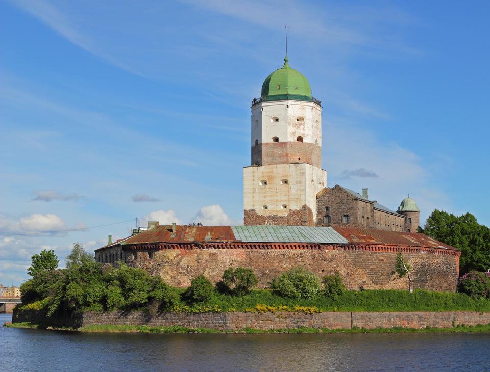 Free Leningrad Oblast, Russia. Views of the Vyborg Castle