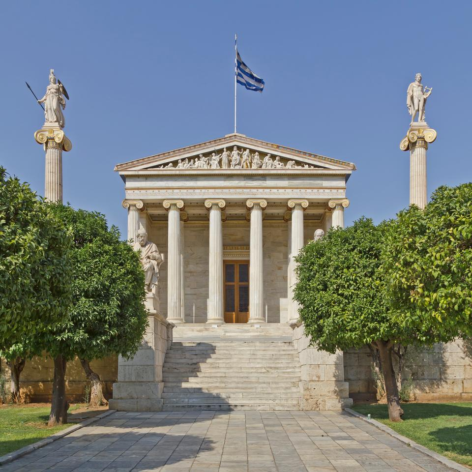 Free Building of the Academy of Athens Greece