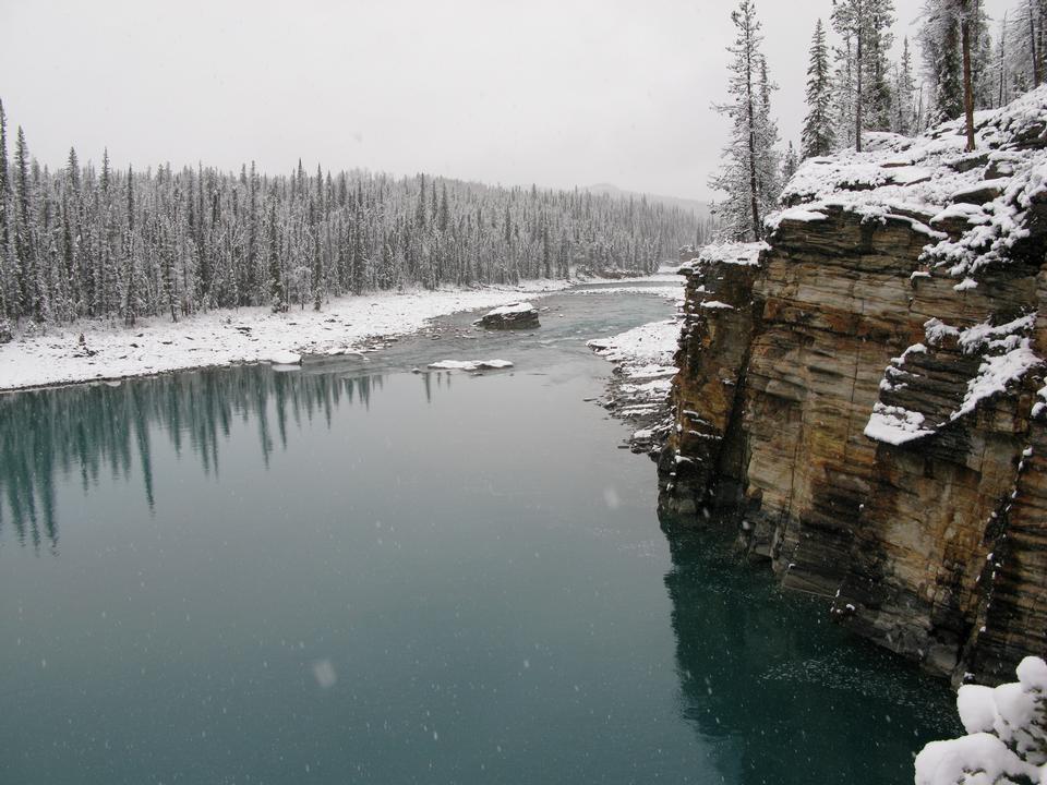 Free Athabasca River, Jasper National Park, Alberta, Canada