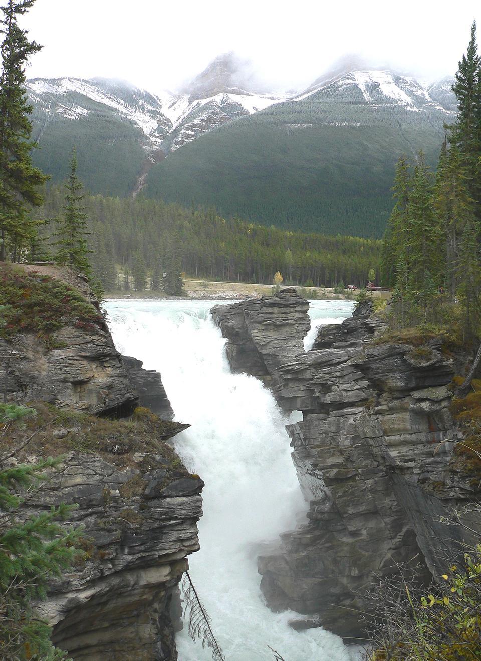 Free Athabasca Falls in Jasper National Park, Alberta, Canada