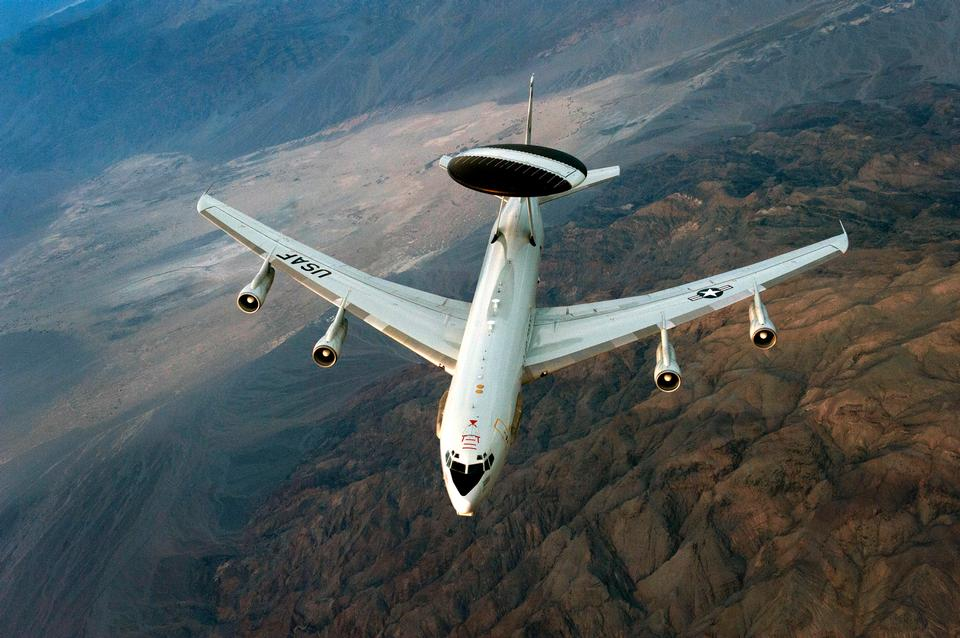 Free Boeing E-3 Sentry airborne warning and control system aircraft