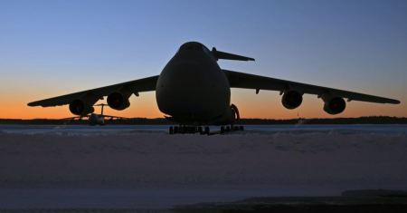 Free snow covered Westover Air Reserve Base