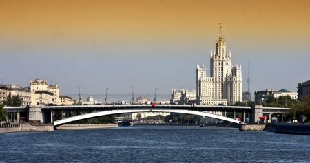 Free bridge in Moscow, Russia