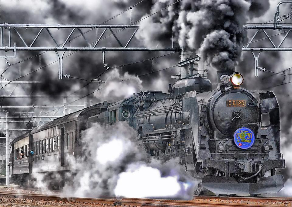 Free Vintage train rides on the road Japan