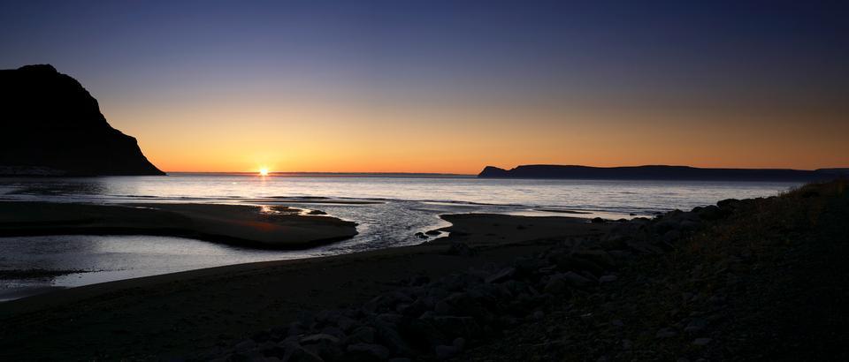 Free Iceland Nature Ocean Bolungarvik Sunset