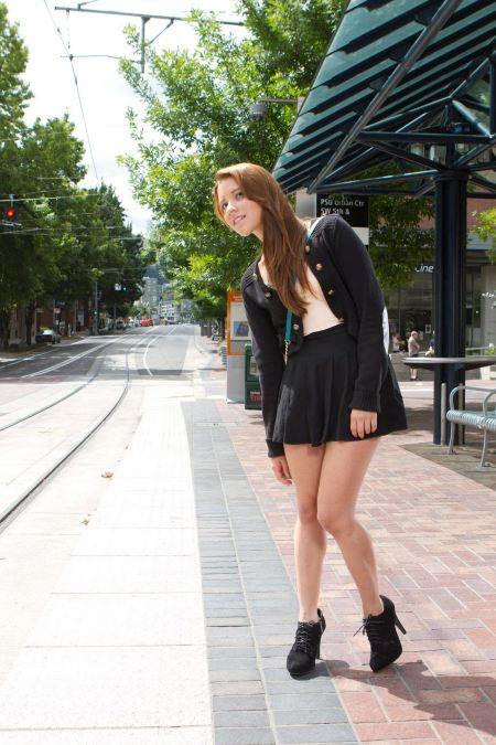 Free Beautiful Young Woman Walking On The Street