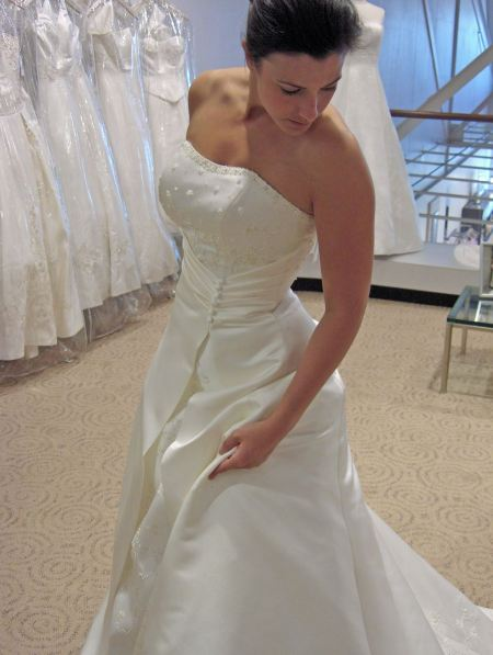 Free stunning, young brunette bride