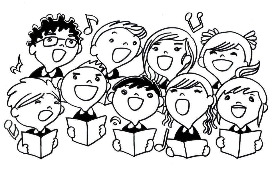 Free children choir singing