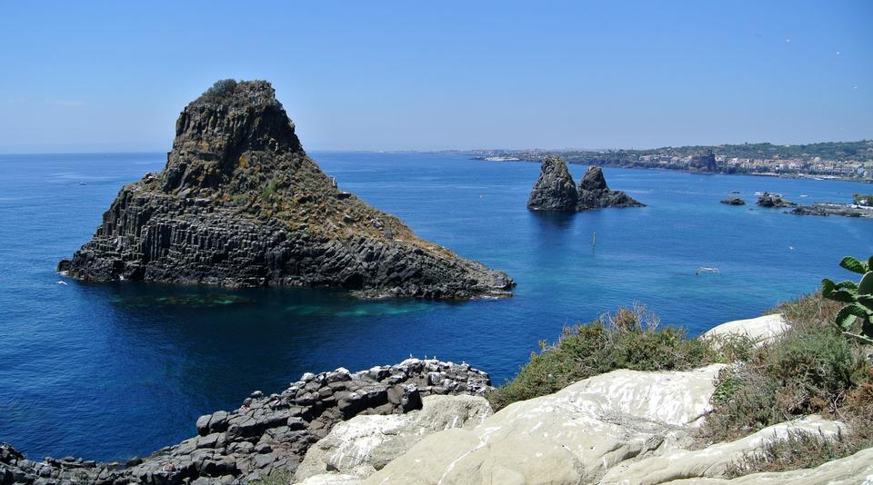 Free Cyclopean Isles off east coast of Sicily Italy