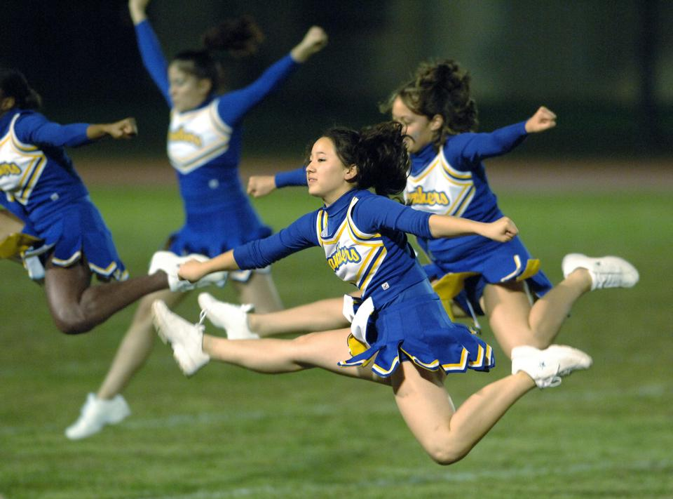 Free Cheerleaders Jumping In The Air