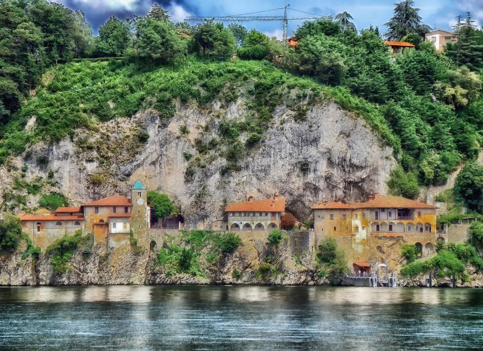 Free Stunning view from Santa Caterina del Sasso, Lago Maggiore, Italy