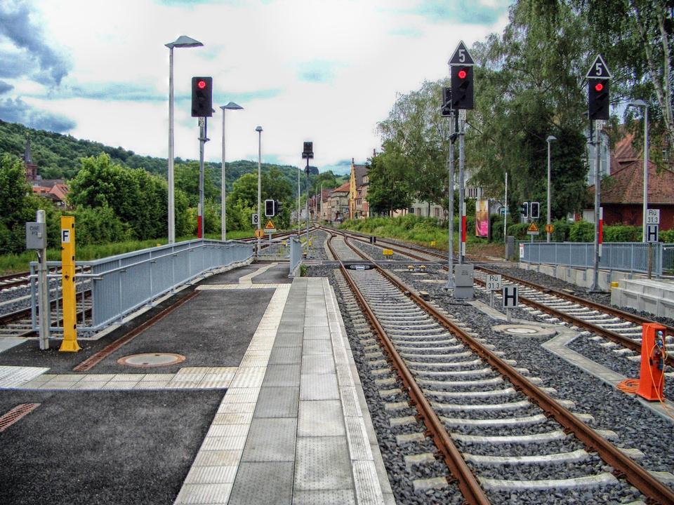 Free railway station in Wertheim Germany