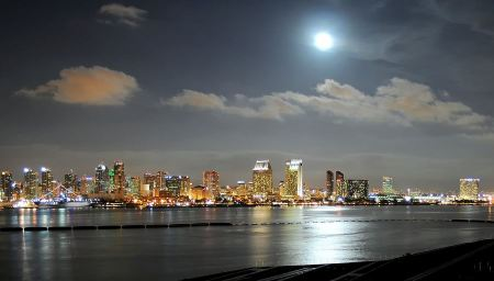 Free Night Cityscape San Diego California