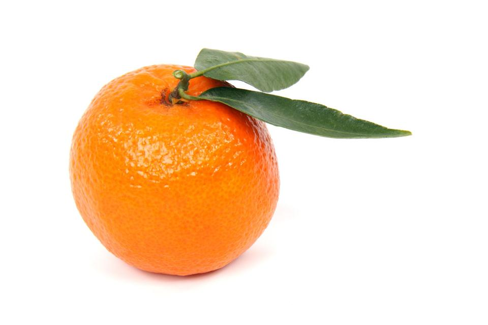 Free A Clementine Isolated On A White Background