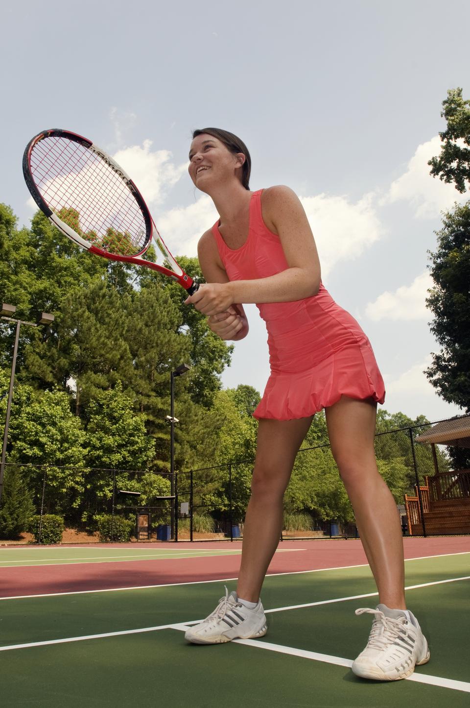 Free A Woman Playing Tennis