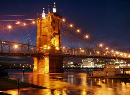 Free John A. Roebling Suspension Bridge in Cincinnati, Ohio