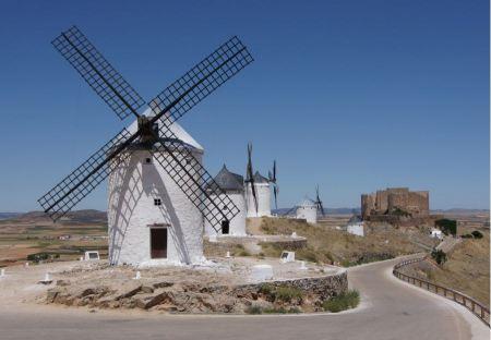 Free windmills in Campo de Criptana. La Mancha, Spain