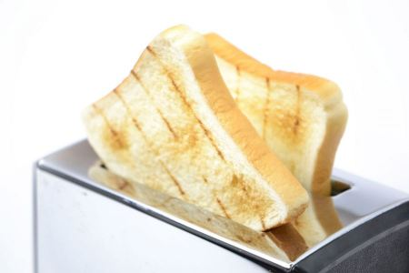 Free Bread toaster isolated on the white background
