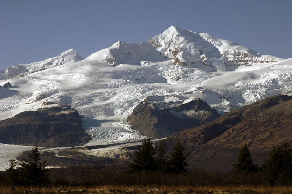 Free Katmai Calder, glacier, and Mt Griggs
