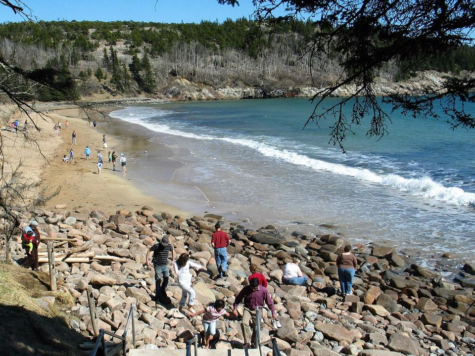 Free Spring Sand Beach Acadia National Park