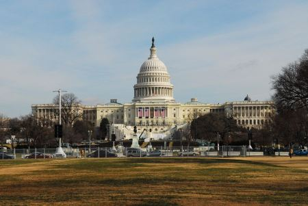 Free US Capitol Building in Winter - Washington DC United States