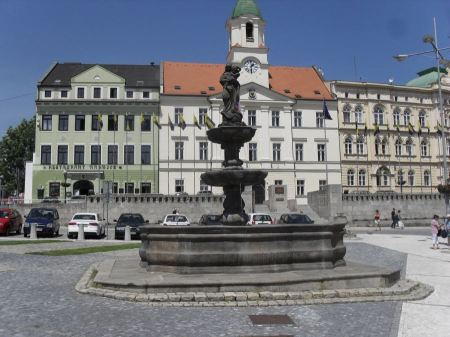 Free A fountain with a statue of the Madonna of Liberty, Teplice