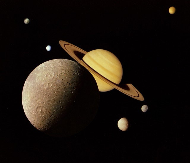 Free outer space nasa moon saturn dione rings tethys