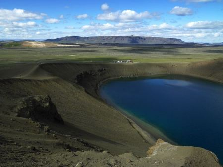 Free Viti is a smaller explosion crater, Iceland