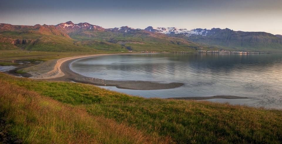 Free A beautiful coastline in warm evening sunshine, Snefellsnes