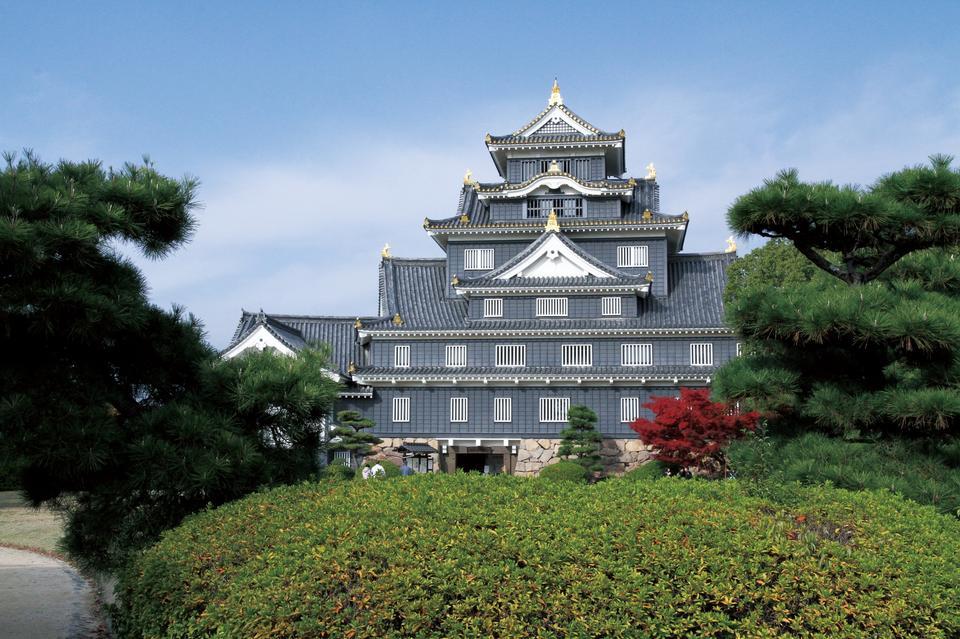 Free Famous Okayama Castle in Japan