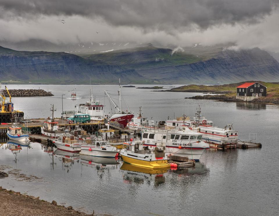 Free fishing boats Djupivogur Iceland