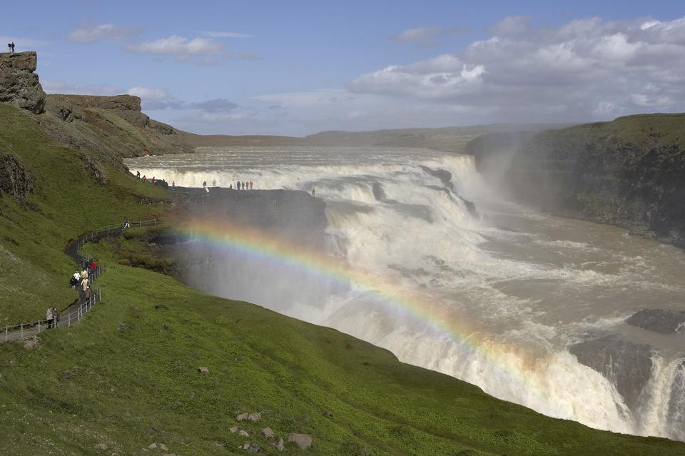 Free Gulfoss waterfall Iceland