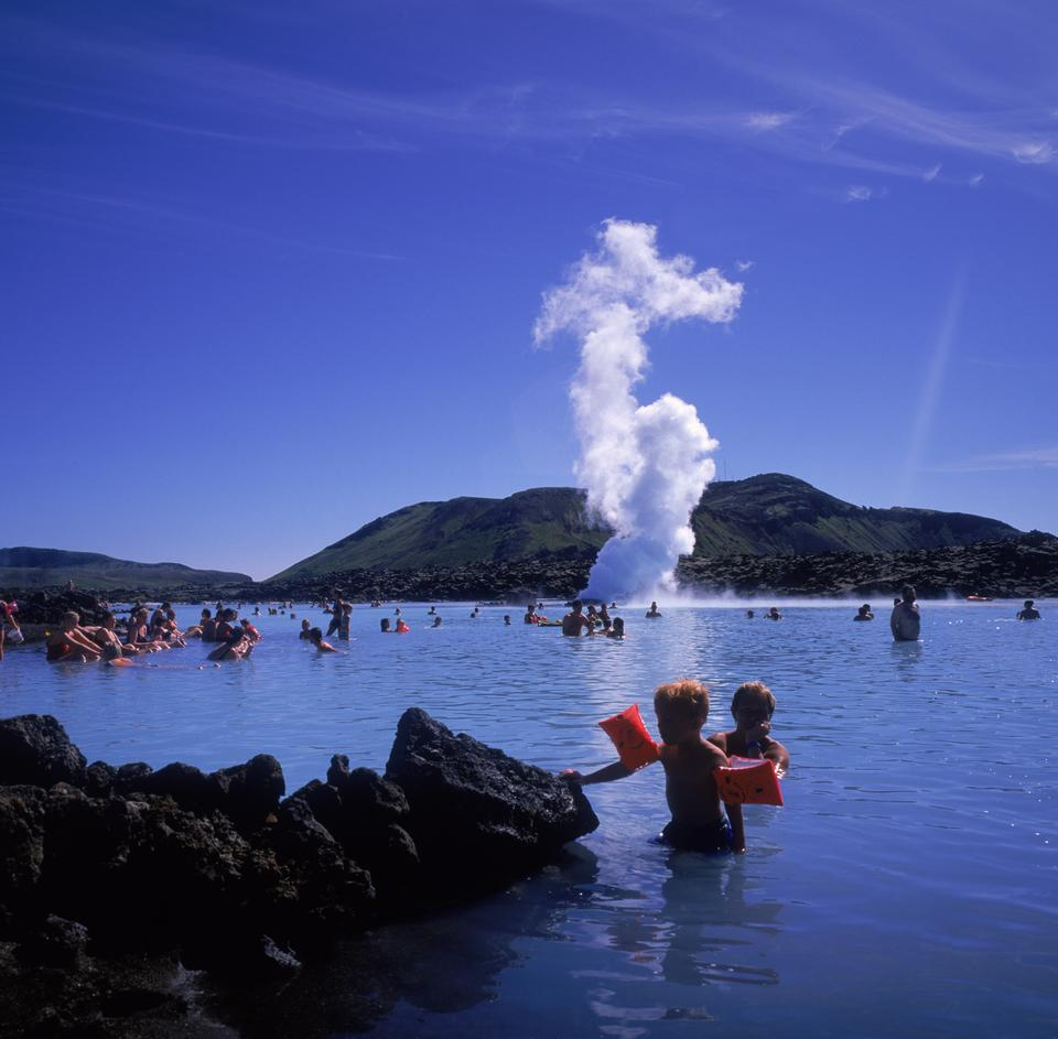 Free The Blue Lagoon geothermal bath resort in Iceland