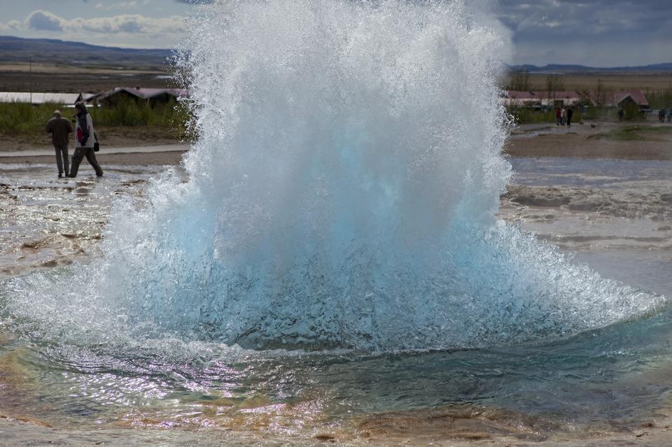 Free Geyser in Iceland
