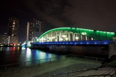 Free landscape of Kachidoki Bridge Tokyo