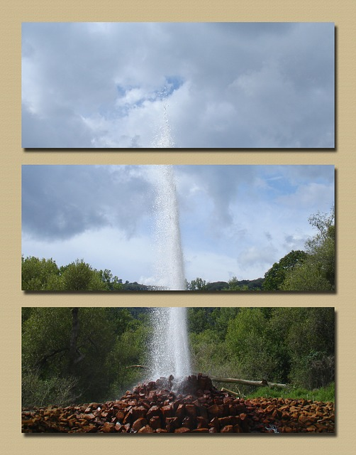 Free geyser andernach triptych bubbly carbon dioxide
