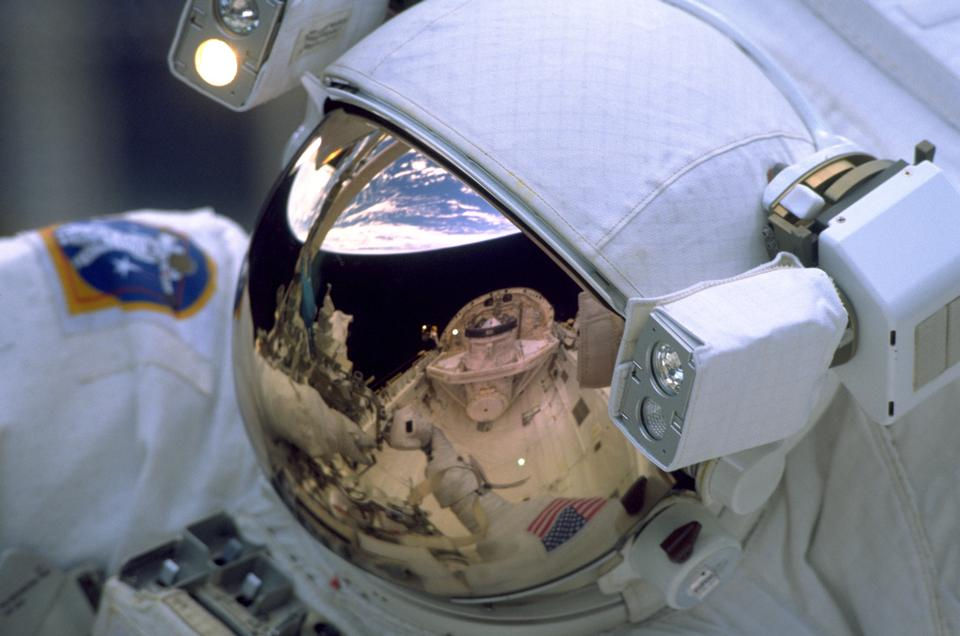 Free Reflection on astronaut's visor