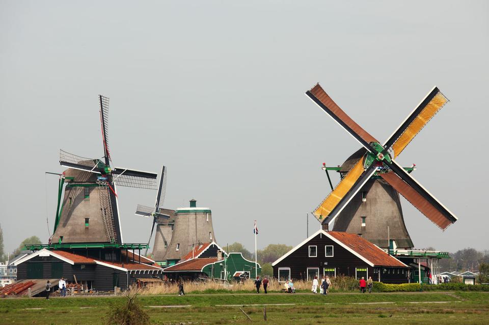 Free Windmills of Zaanse Schans, Netherland