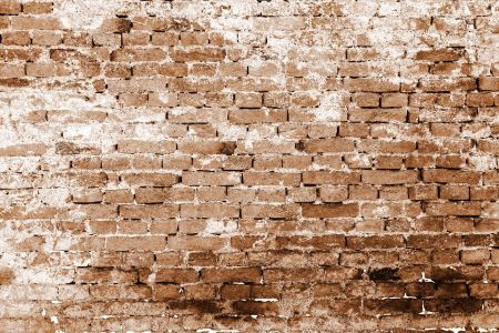 Free Brick wall pattern in sepia color