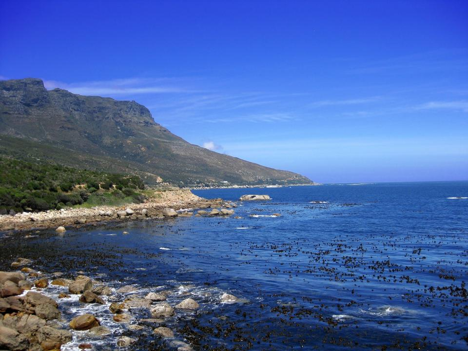 Free Rocky coastline leading down to Cape Point in South Africa