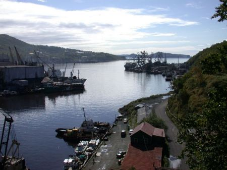 Free A harbor scene at Vladivostok Russia