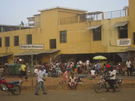 Free Outdoor market, Sao Tome Africa