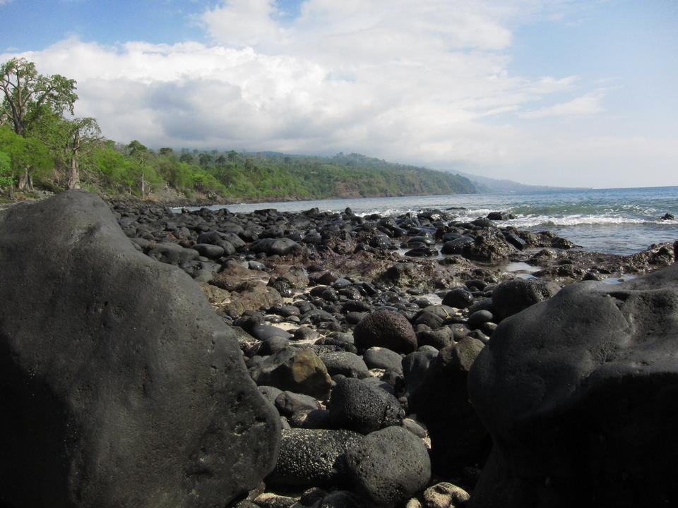 Free Blue Lagoon in Sao Tome Africa