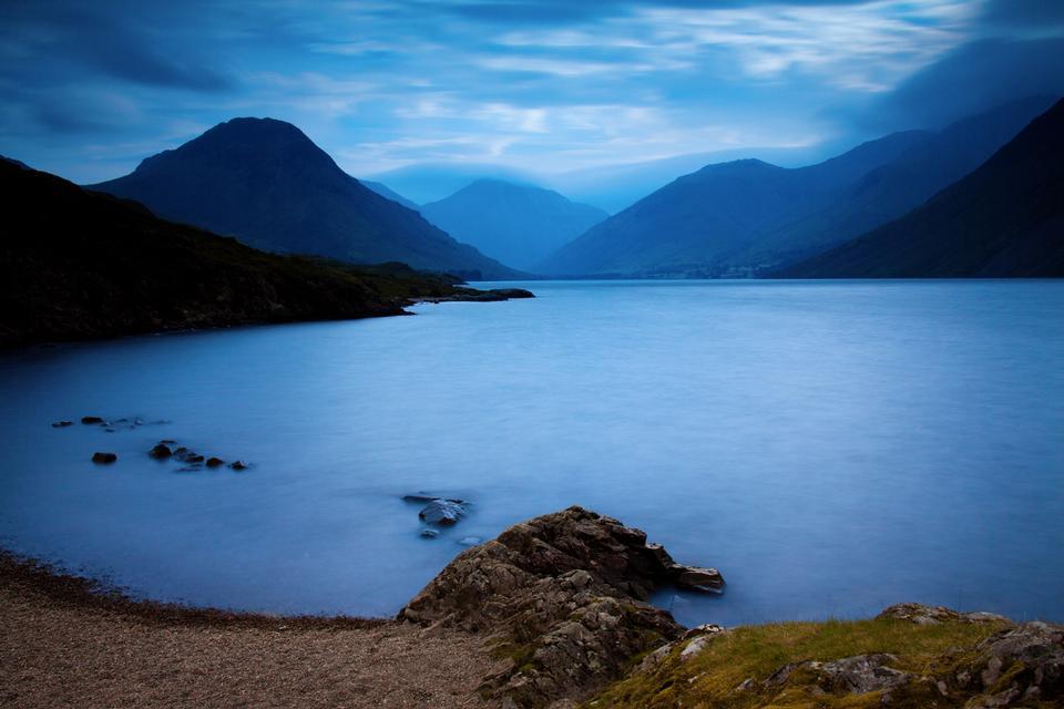 Free Wast Water lake in Lake District in Cumbria United Kingdom