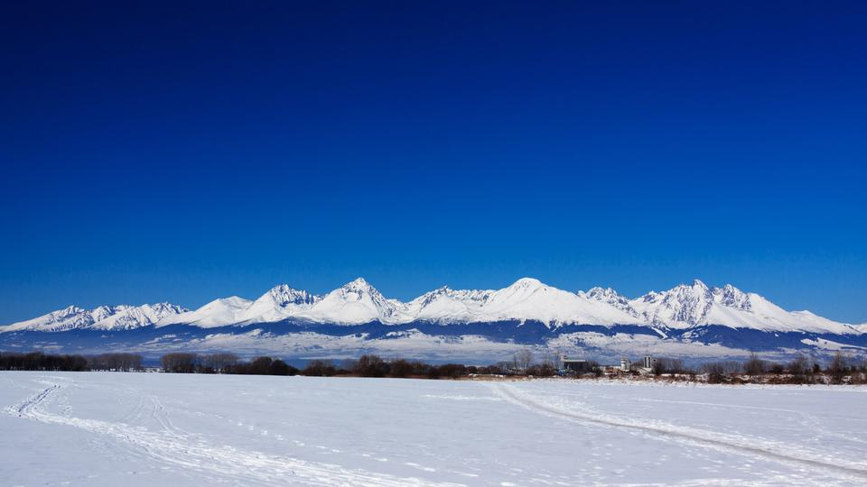 Free Landscape of Tatra Mountains in Slovak