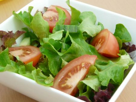 Free Green Salad And Tomatoes