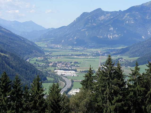 Free Photos: Austria styria mountains valley ravine town | David Mark