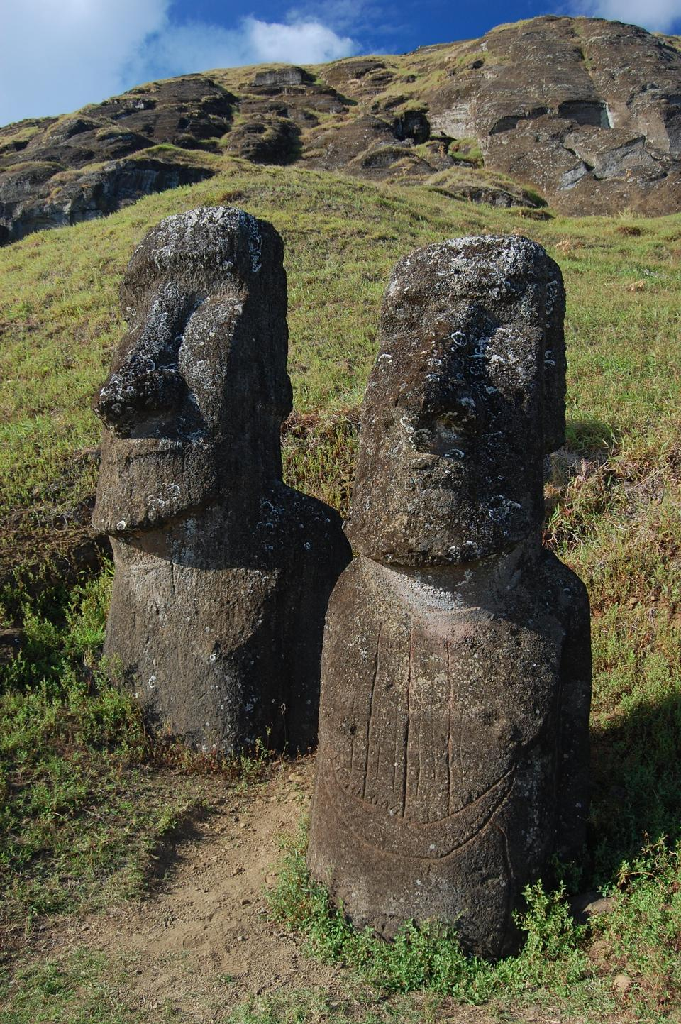 Free Moai at the Rano Raraku quarry