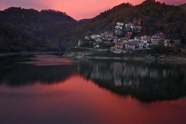 Free lazio italy sky clouds dusk sunset river lake