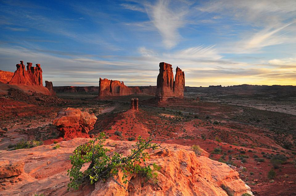 Free Courthouse Towers at Arches National Park Utah